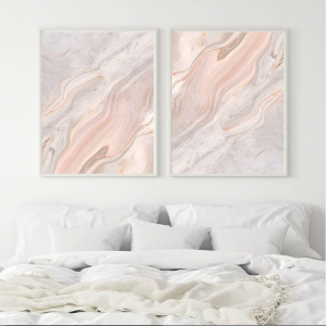 Pink and Grey Marble Prints